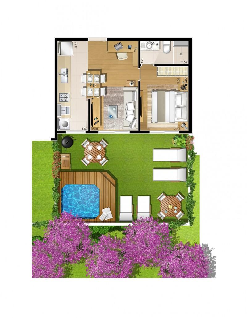 Planta Apartamento Garden